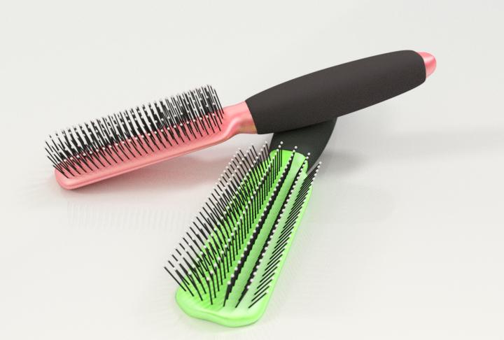 Hairbrush Model in .blend .3ds .obj