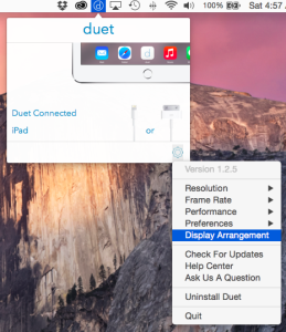 MacBook Air Duet Set up